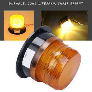 Car Led Bus Beacon Strobe Emergency Warning Alarm Flash Light Amber Dc12v 24v