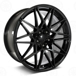 20 Gloss Black Wheels M3 M4 Style Fits Bmw 3 4 5 And 6 Series