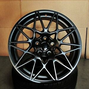 19 Satin Black Wheels M3 M4 Style Fits Bmw 1 2 3 4 And 5 Series