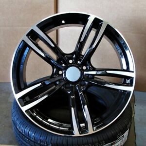 19 Black Machined Wheels 437 Style Fits Bmw 1 2 3 4 And 5 Series