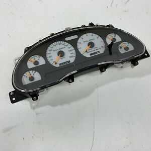 1998 Oem Saleen Ford Mustang Instrument Cluster 150 Mph 98 White Gauges S2934