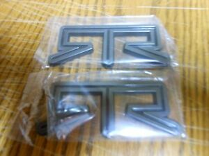 Pair Of Ford Mustang Titanium Color Rtr Emblems 3 75 X 1 50 New