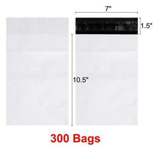 300 7x10 5 Poly Mailers Shipping Envelopes Self Seal Bags 2 Mil White 7 X 10 5