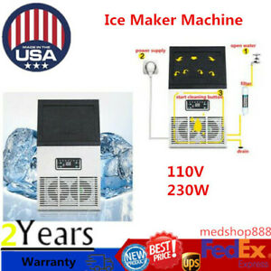 Stainless Commercial 110lbs Undercounter Ice Maker Machine Air Cooled Cube 110v