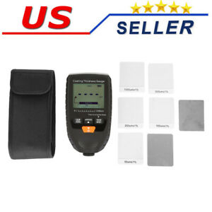 Coating Thickness Gauge Tester With Backlight Lcd Display 0 1500um