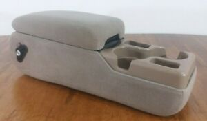 00 05 Chevy Impala Buick Century Bench Seat Center Console Armrest Gray Cloth