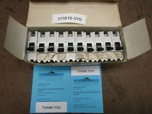 10 Federal Pioneer Lr12188 Nb140 40 Amp 1 Pole Stab Loc Breakers New In Box