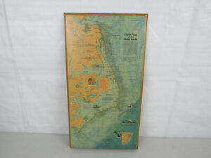 Vintage1970 National Geographic Ghost Fleet Of The Outer Banks Wall Map Plaque