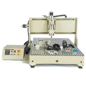 4axis Cnc Vfd 6090 Router Engraver Machine Desktop Milling drill For Wood Work