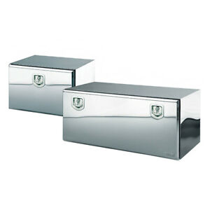 18 X 18 X 48 Underbody Truck Tool Boxes Polished Stainless Steel