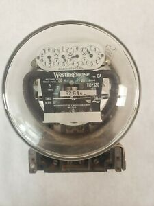 Vintage 1930 s Type Ca Electric Meter By Westinghouse 115 230 Volts Glass Cover