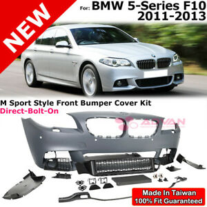 Front Bumper Cover Gray M Sport Style Kit For 11 13 Bmw 5 Series F10 With Pdc
