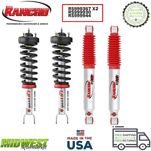 Rancho Quicklift Front Struts And Rs9000xl Rear Shocks Set 2009 2019 Ram 1500