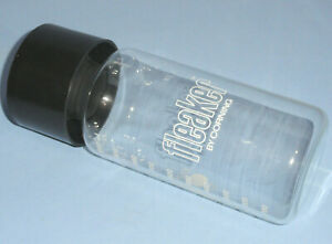 Rare Corning Fleaker 1000ml Pyrex Glass Flask Beaker W Cap Lid Graduated Usa