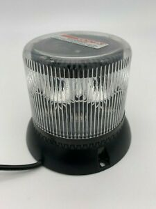 Code 3 Lss222 Dual Stack Rgb Led Beacon Permanent Mount Clear Lense