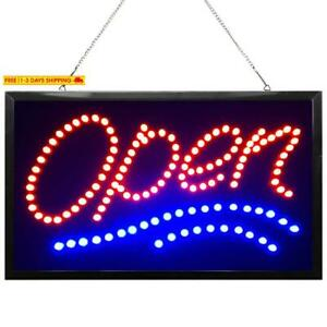 Waenlir 22x13 Inch Bright Large Led Open Sign For Business High Visibility Elec