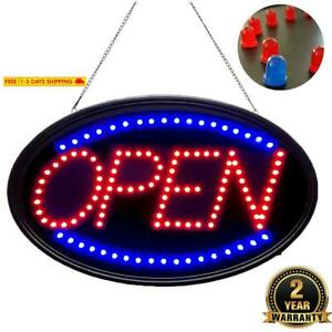 Waenlir 23x14 Inch Bright Large Led Open Sign For Business High Visibility Elec