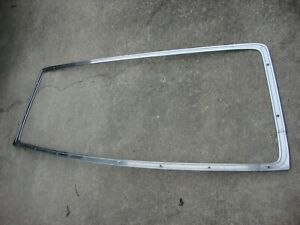 1964 1965 Dodge Plymouth B body 2dr Post Or 4dr Sedan Rear Window Stainless Trim