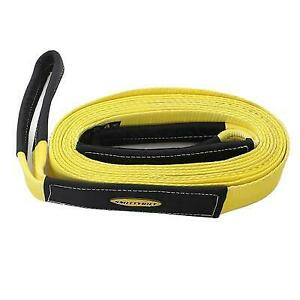 Smittybilt 4 Inch 20 Foot Recovery Strap Yellow Cc420