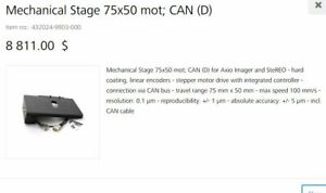 Zeiss Motorized Stage With Built In Can Control For Upright Axio Imager Tested