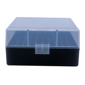 BERRY'S PLASTIC AMMO BOXES (10) CLEARBLACK 100 ROUND 223  5.56 - FREE SHIPPING $42.00