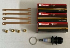 1928 34 Ford 4 Cylinder Model A B New Motor Craft Replacement Spark Plugs Set 4