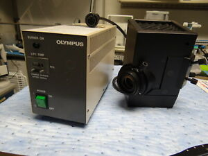 Olympus Microscope Hbo Light U uls100hg With Controller Bh2 rfl t3 Tested