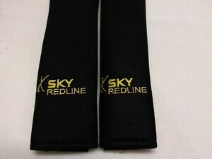 Saturn Sky Redline Seat Belt Pads All Models Black Super Soft Embroidered Yellow