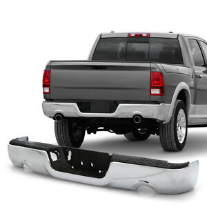 For 09 18 Dodge Ram 1500 Pickup Dual Exhaust Model Rear Bumper Chrome Assembly