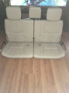 Lexus Gx470 2003 2009 3rd Third Row Seats Tan Ivory Leather Factory Oem Complete