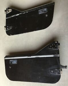 Jeep Yj Half Doors 87 95 Wrangler Cj7 Black Steel Hard Door Cj7 Lower