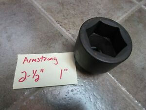 2 1 2 Armstrong Usa Impact Socket 1 Drive Fast Shipping Model 22 080