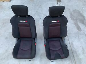 2009 2013 Nissan 370z Nismo Z34 Left And Right Seat Set Cloth Manual Oem 09 13
