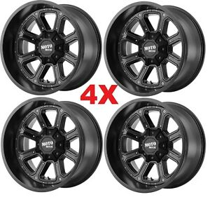 20 Black Wheels Rims Moto Metal 20x9