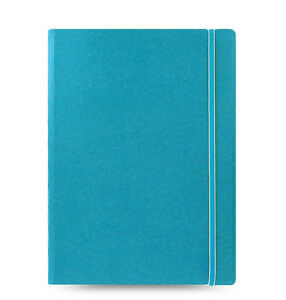 Filofax A4 Size Refillable Leather look Ruled Notebook Noted Diary Aqua Classic
