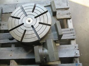 Used Troyke 12 Vertical Horizontal Rotary Table For 4th Axis Cnc Machine dp