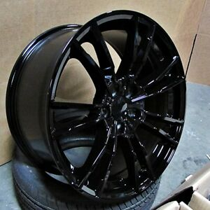 20 Gloss Black Wheels M5 Style Fits 2018 Bmw 5 6 7 Series