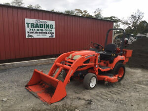 2013 Kubota Bx2360 4x4 Diesel Compact Tractor W Loader 60 Mower Only 400hrs