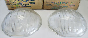 1936 Oldsmobile 36 38 Pierce Arrow Multibeam Headlamp Lens Set 919661 919662