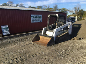 2015 Bobcat T450 Compact Track Skid Steer Loader W Only 1200hrs Joysticks
