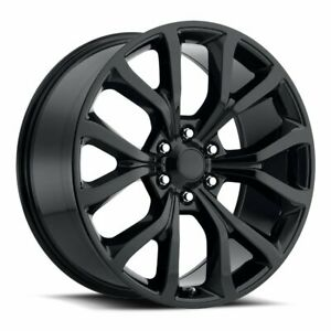 Factory Reproductions Fr52 Ford Expedition Rim 22x9 5 6x135 Et44 Blk qty Of 4