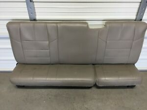 2008 2016 Ford F250 F350 Super Duty Extended Cab Rear Seat Stone Gray Leather