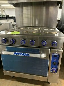 Imperial Restaurant Range Electric W Conv Oven 36 New Demo
