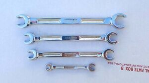 4 Vintage Snap on I beam Style Flare Nut Wrenches 1 4 To 3 4 See Description