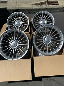 19x8 5 37 F 19x9 5 33r 5x120 72 6 Hub Silver Rims Fits Bmw E90 E92 Used Set