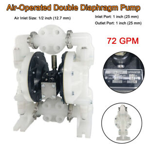 Air operated Double Diaphragm Pump 1 Inlet Outlet Petroleum Fluid 72gpm 120psi