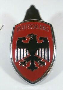 1949 1979 Vw Hood Crest Badge Emblem W Base Plate Red Deutschland Eagle