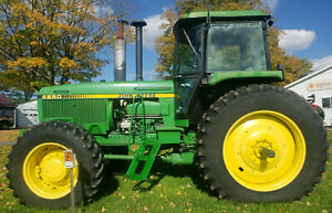 John Deere 4650 4x4 Power Shift 183 Hp Diesel Tractor With Cab Ac Heat 4wd Mfwd