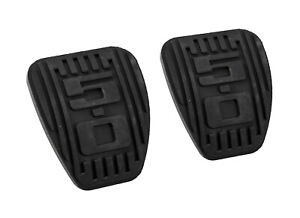 1994 1995 Mustang Gt Or Cobra Clutch Brake Pedal Pads 5 0 Logo Rubber Black