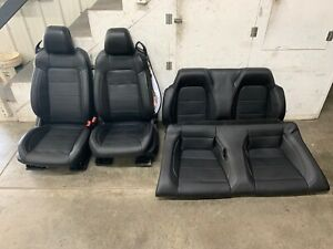 2015 2017 Ford Mustang Gt Convertible Black Leather Front Rear Seats Oem